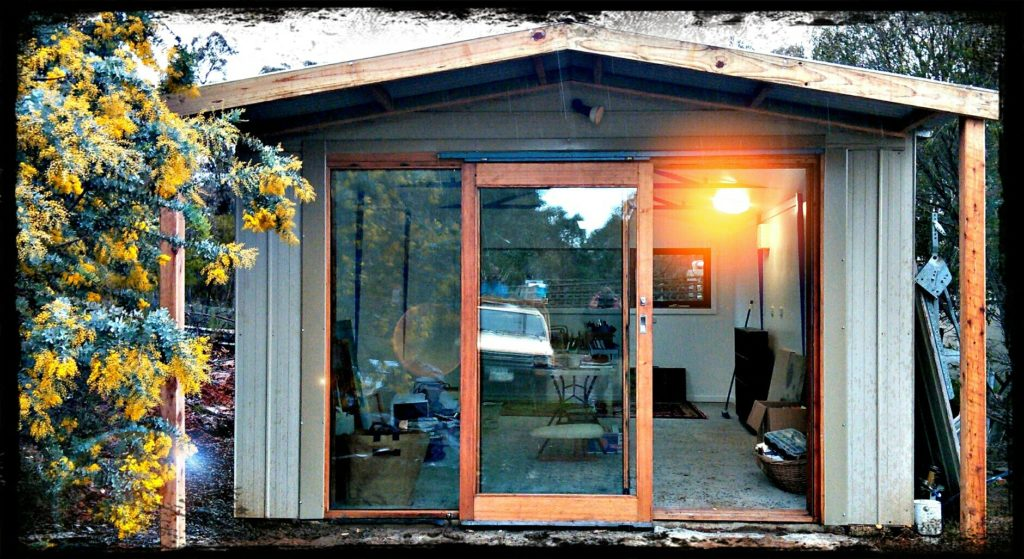 Shed to studio conversion